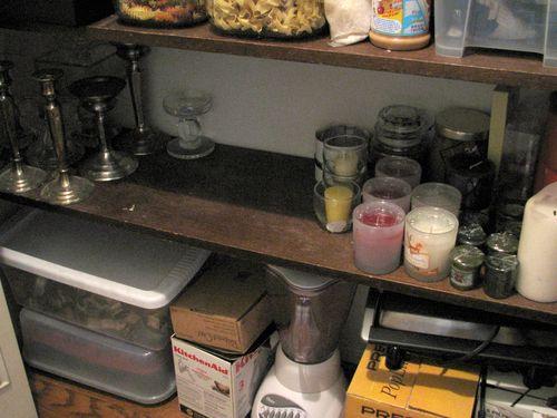 Candle shelf