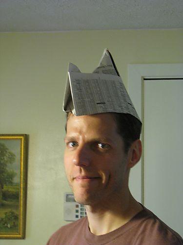 Glenn w paper hat