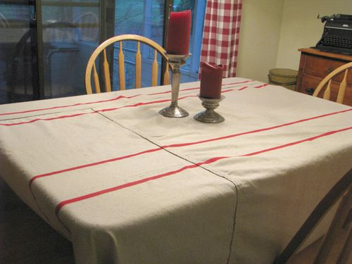 Finished tablecloth