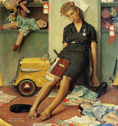 Norman-rockwell-christmas-rush-1