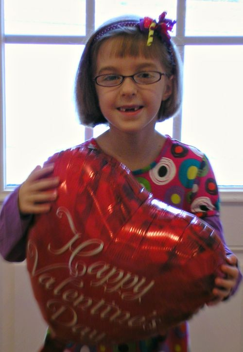 Hope with Valentine Balloon