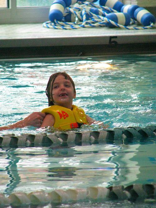 Hope in pool