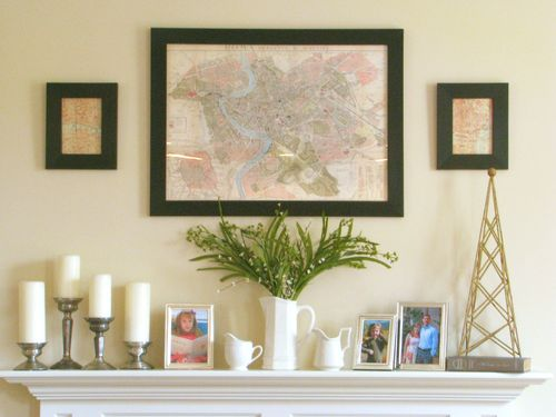 Vintage Pretties - Mantel with ironstone