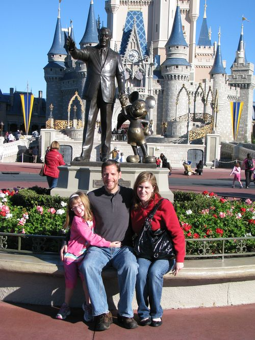 Us in front of castle