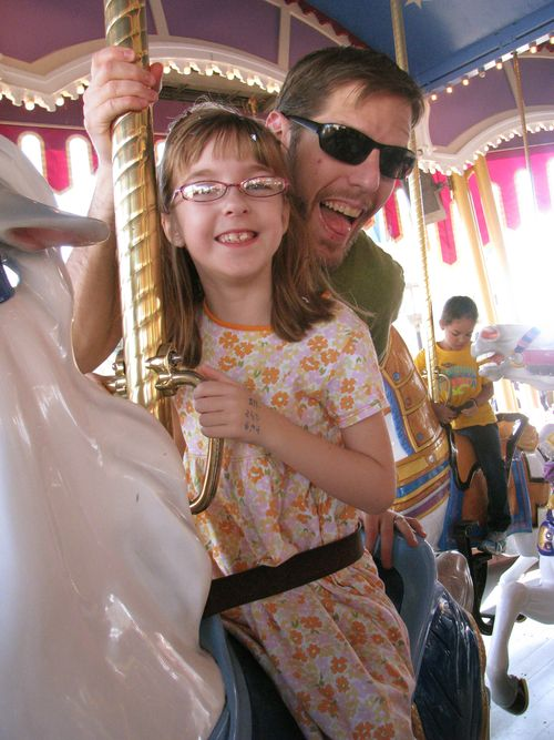 H and G on merry go round