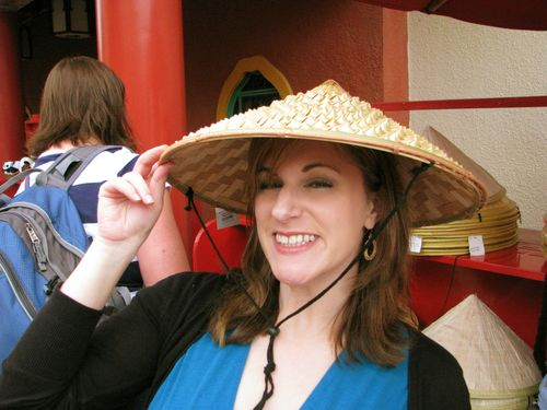 Kim in Chinese hat