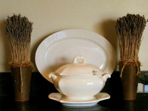 Vintage Pretties - Ironstone and lavendar