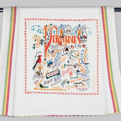 Virginia_dish_towel_catstudio