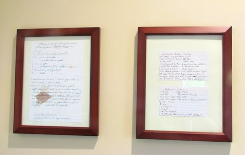 Framed old recipes 2