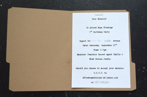 Secret Agent Party Invitation Spy Party Invitation 1