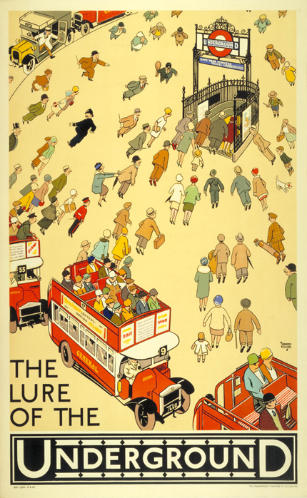 The-lure-of-the-underground-by-alfred-leete-1927-vintage-london-travel-poster-www.freevintageposters.com