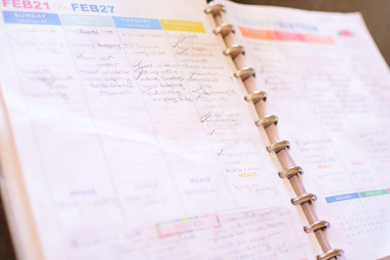 I heart organizing planner