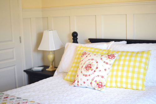 Yellow Guest Bedroom Board and Batten 1