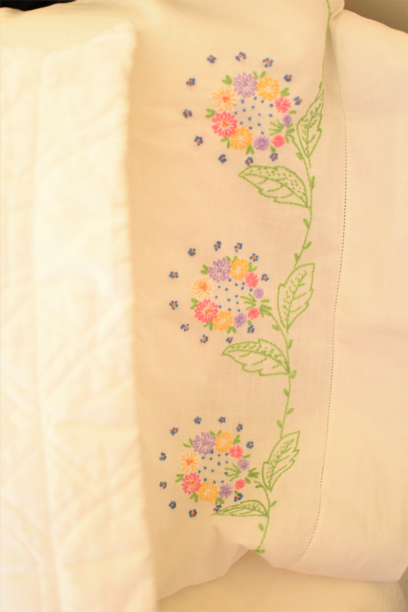 Yellow Guest Bedroom Vintage Pillowcase 2
