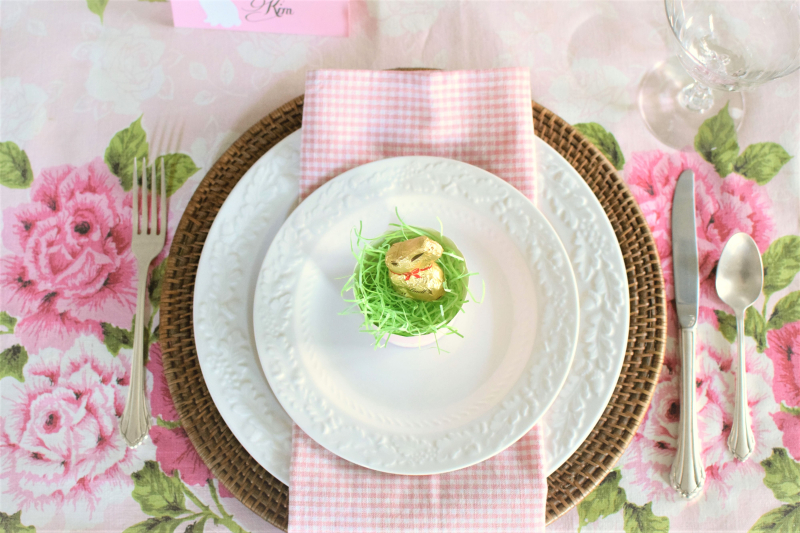 Pink Easter Tablescape 9