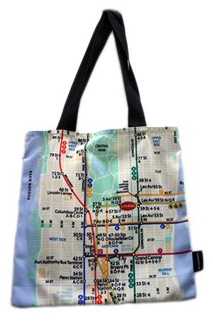 NY Subway Tote Bag