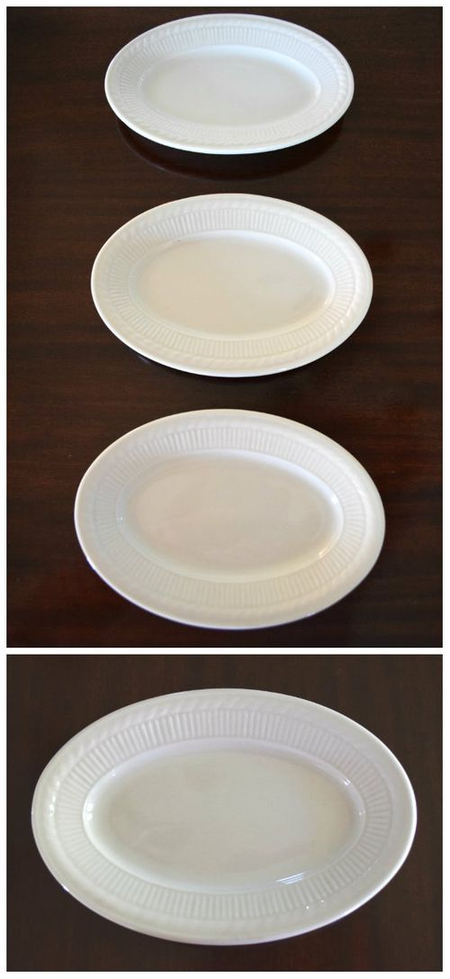 White plate collage