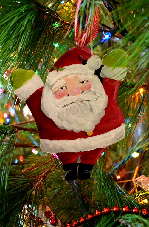 Yapping Cat Santa Ornament