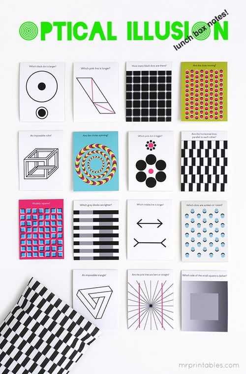 Optical-illusion-printable-lunch-box-notes