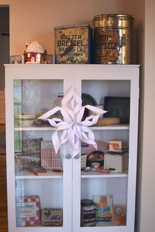 Christmas kitchen cabinet