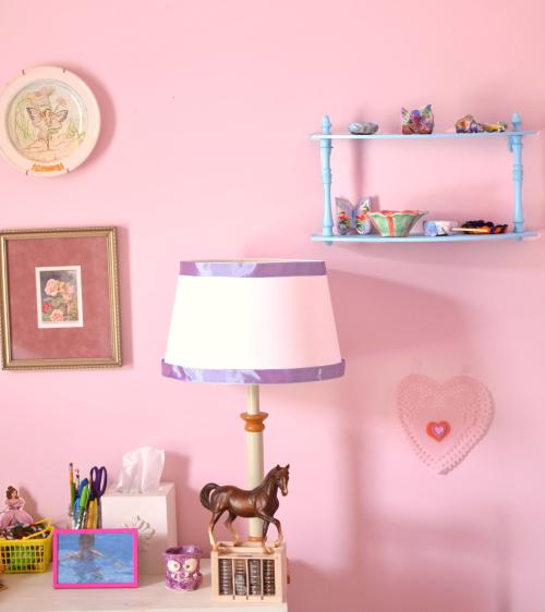 Blue shelf