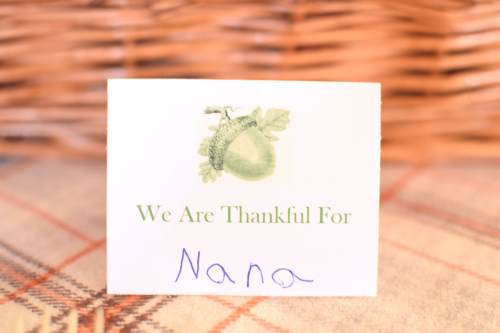 We Are Thankful For Placecard