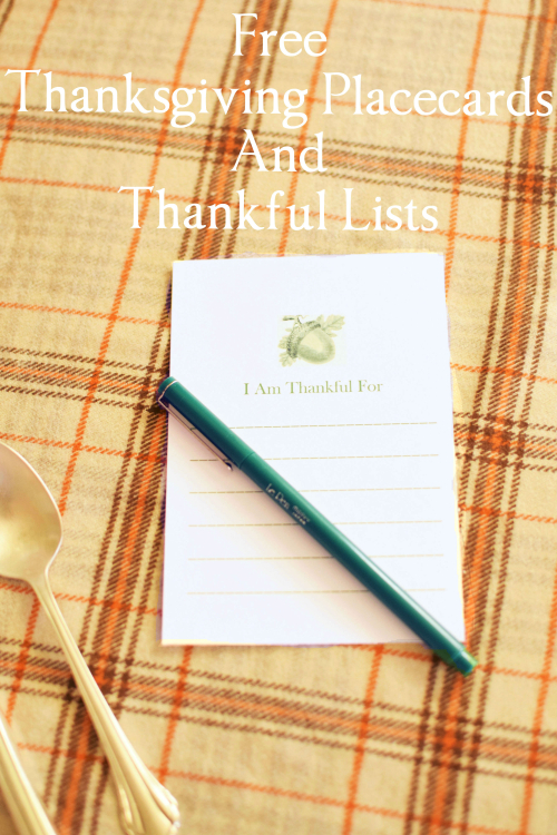 I Am Thankful For Card with Text