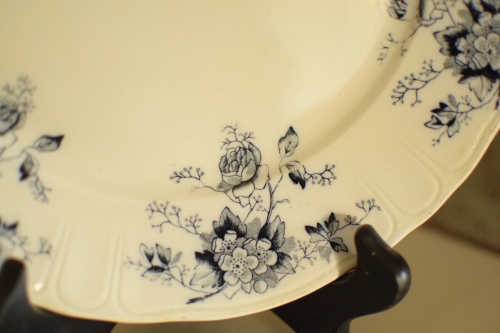 Black Antique Transferware Plate