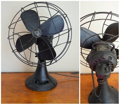 Vintage fan collage