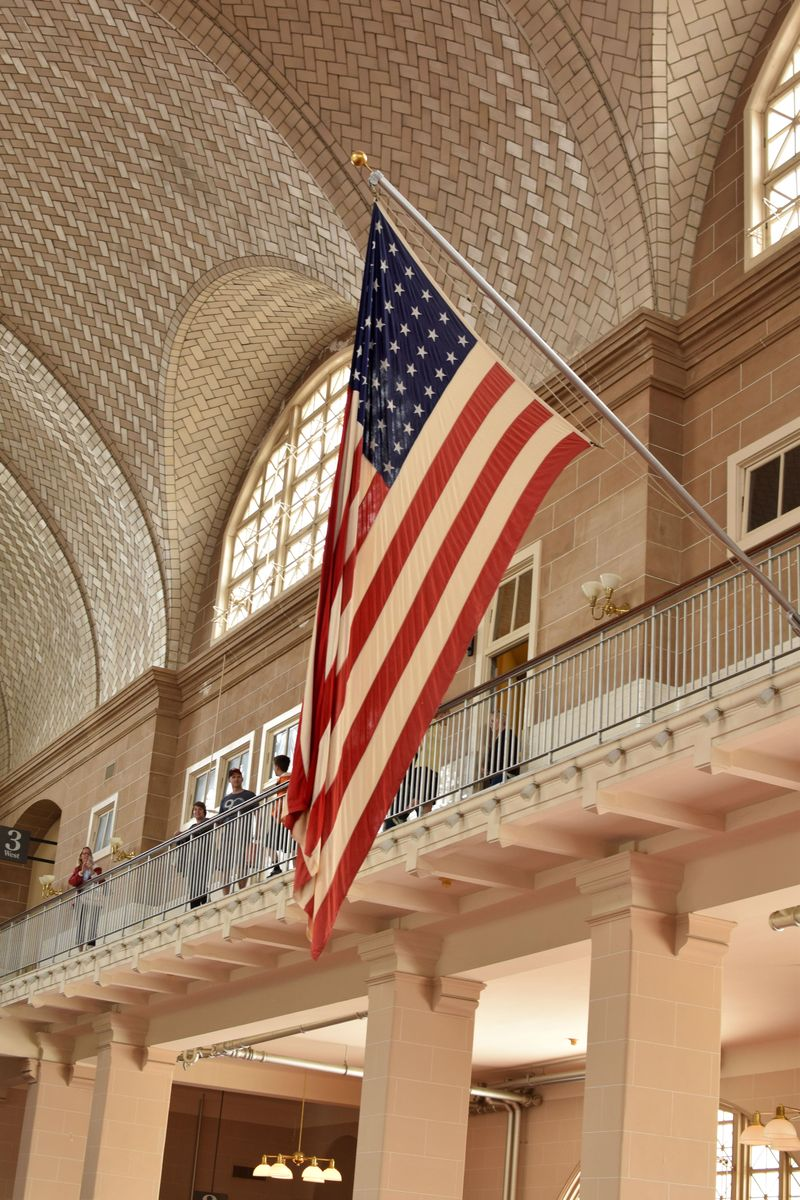 Ellis Island Flag