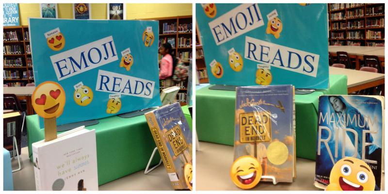 Emoji Reads Library Display 1