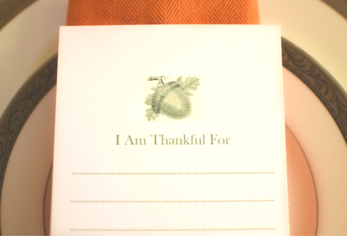 I Am Thankful For Card Close Up