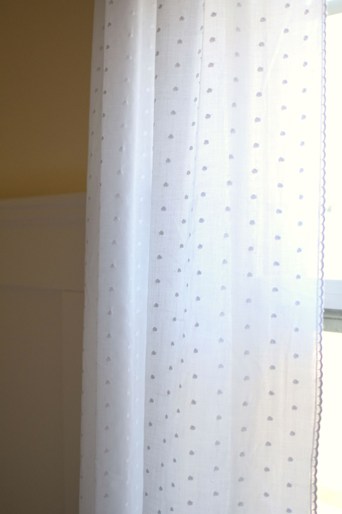 Country Curtains Swiss Dot Yellow Guest Room